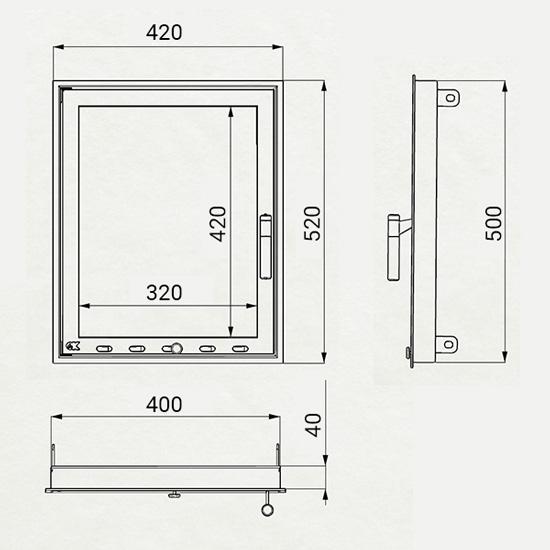 Ușă SF-V 400х500
